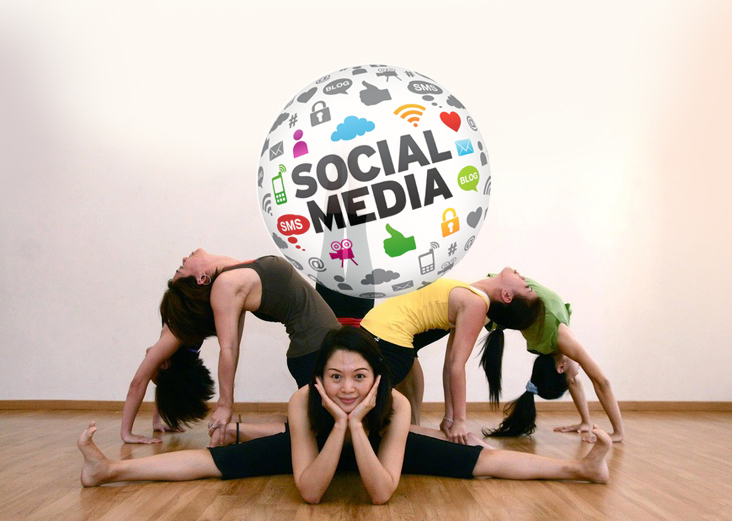 Yoga on social media network