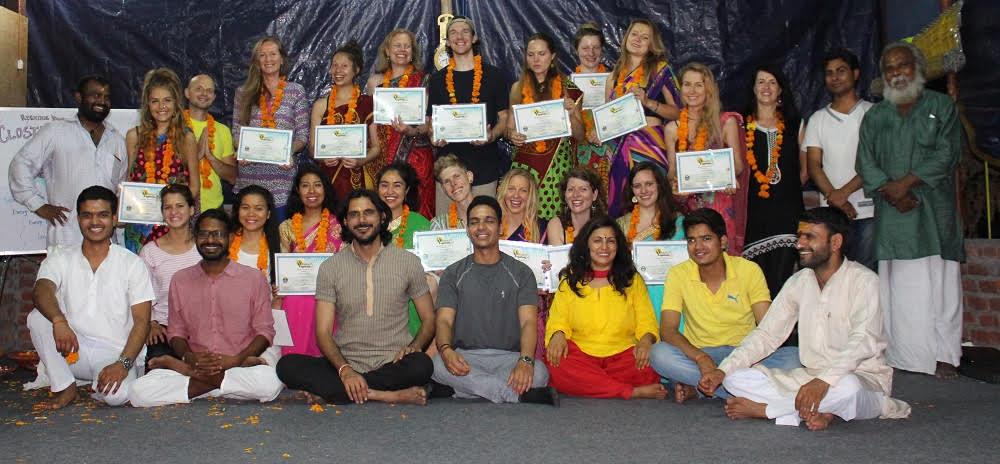 Closing ceremony at rishikul yogshala
