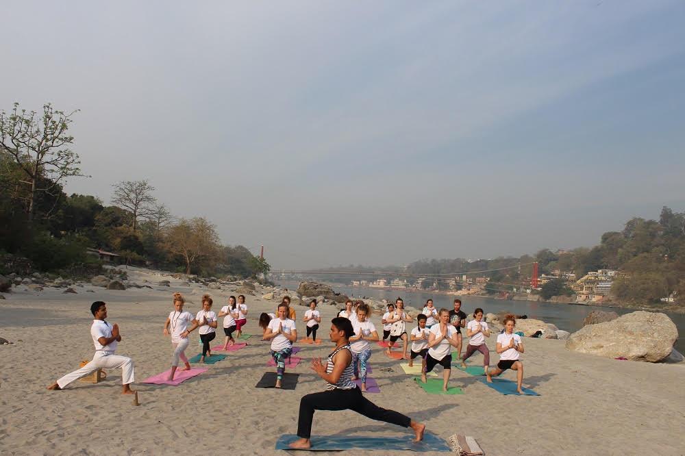 Yoga at Ganga Beach