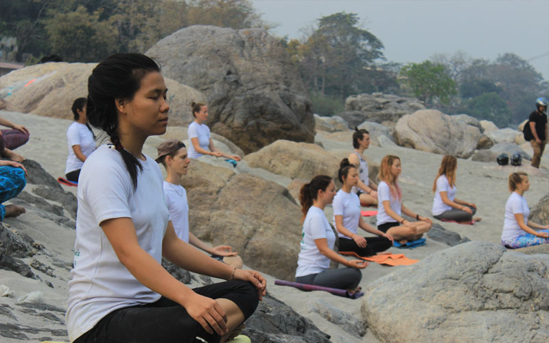 Meditation on Ganga Beach