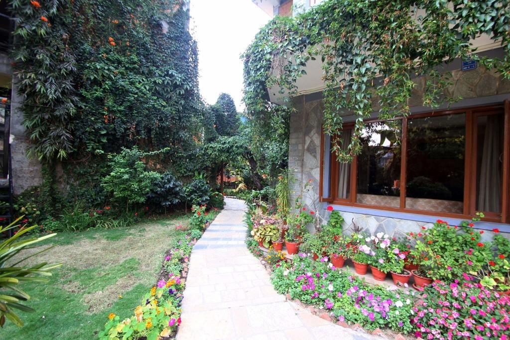 Rishikul Yogshala Nepal Garden
