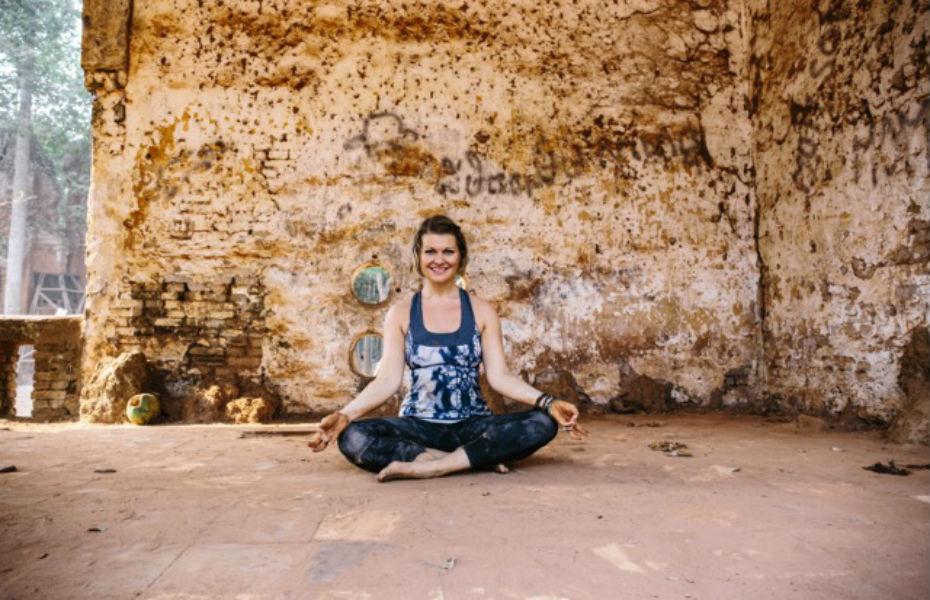 Natasha doing Yoga