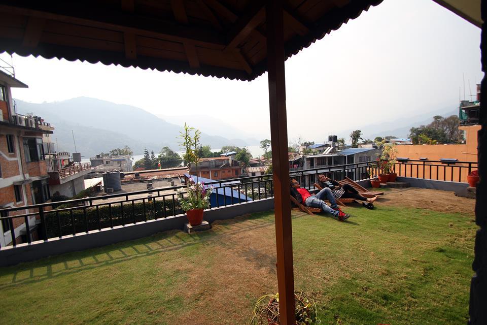 Rishikul Yogshala Nepal Terrace Pic