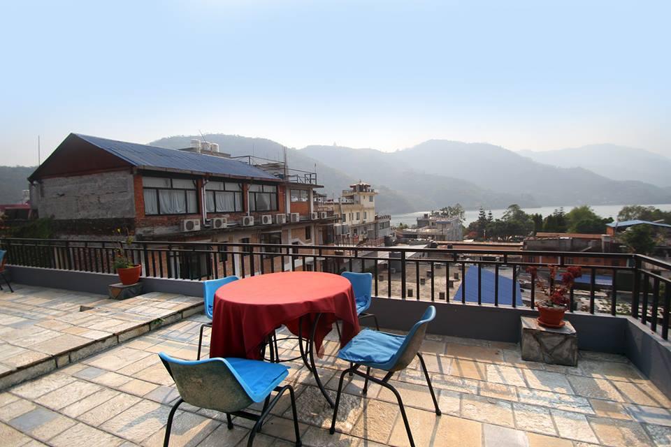 Rishikul Yogshala Rooftop Dining