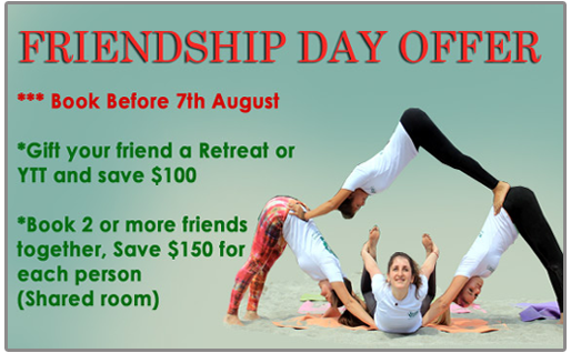 Friendship Day Yoga Offer