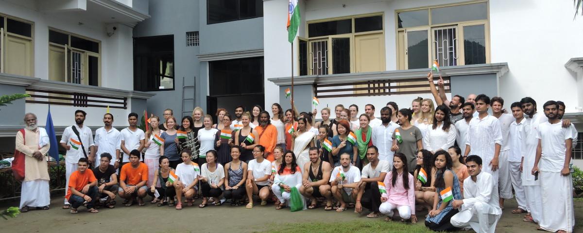 Indian Independence day celebration in rishikul yogshala