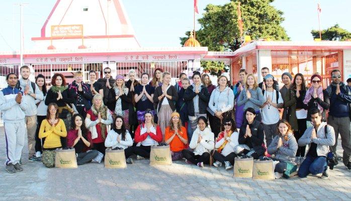 rihsikul yogshala students kunjapuri temple visit