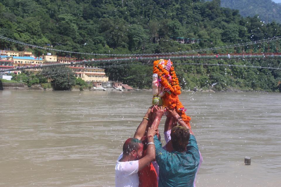 ganesha visarjan in rishikul yogshala