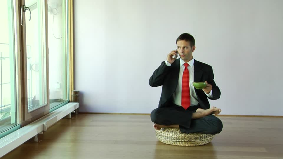 mobile phone during meditation