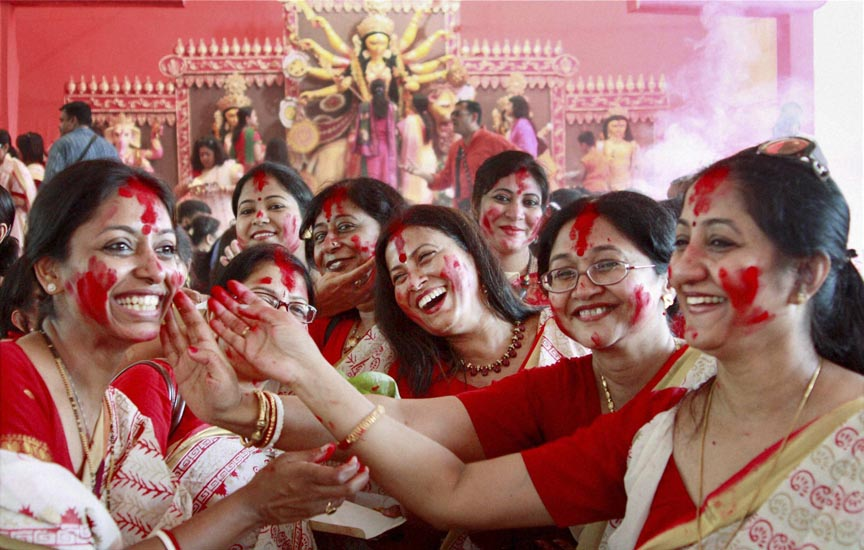Durga puja celebrations in india