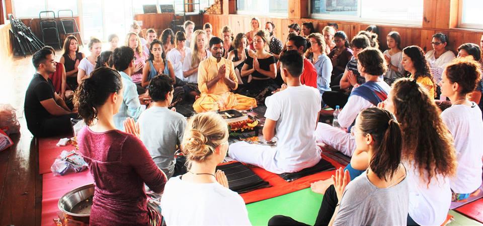 yoga teacher training course octobe opening ceremony in rishikul yogshala