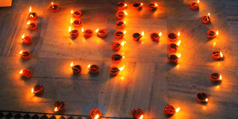 rishikul yogshala diwali celebration in india