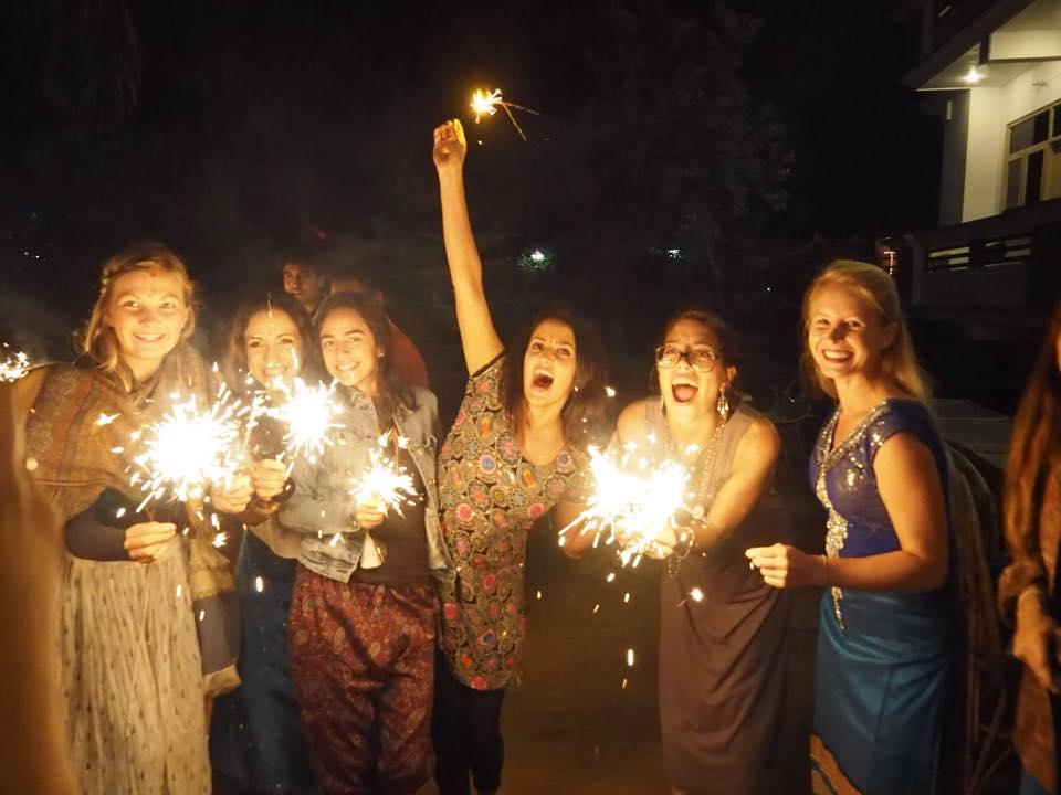 rishikul yogshala diwali celebration