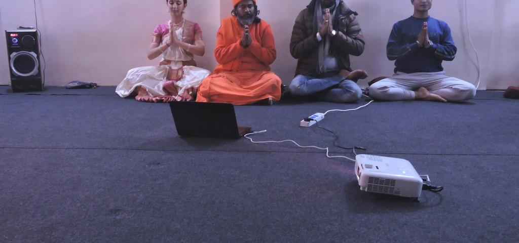 opening ceremony in rishikul yogshala
