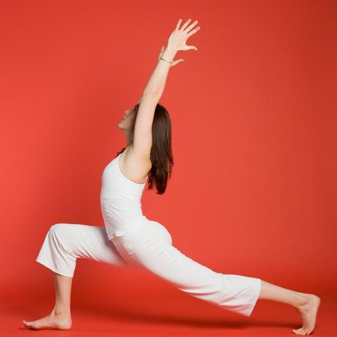 Virabhadrasana Modification Yoga with Weights