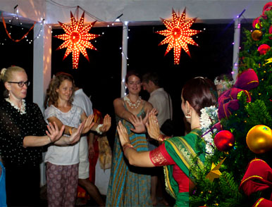Christmas And New Year celebration at rishikul yogshala