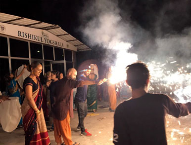 diwali celebration at rishikul yogshala