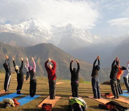 Sunrise Yoga in Sarangkot Valley
