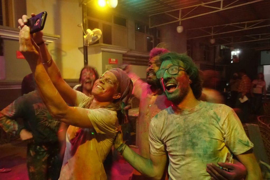 Holi celebration at rishikul yogshala