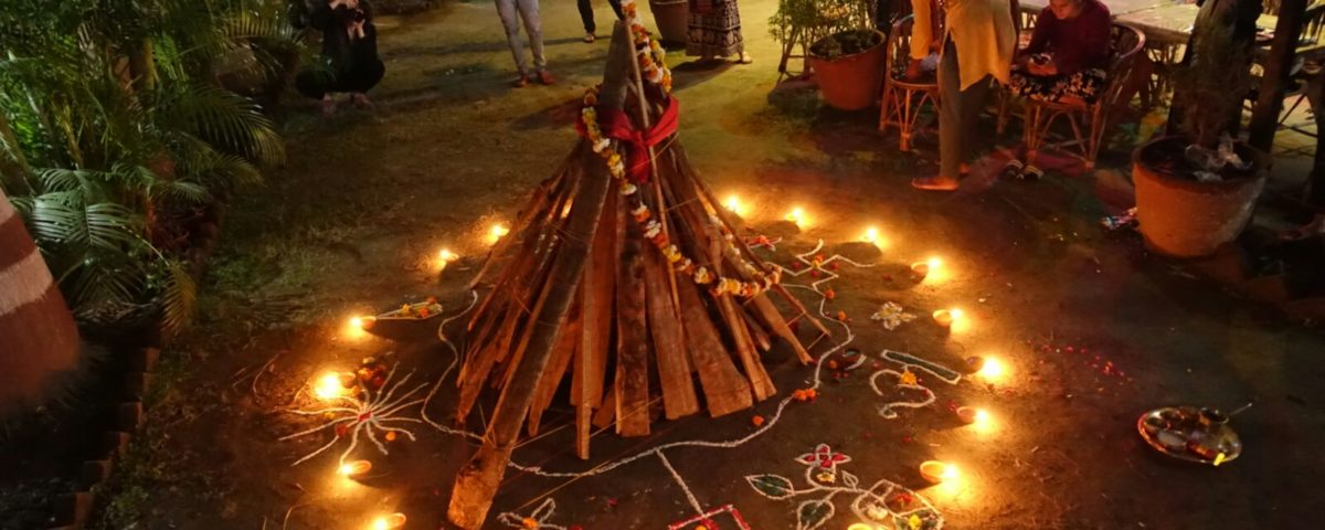 Holika Dahan at rishikul yogshala