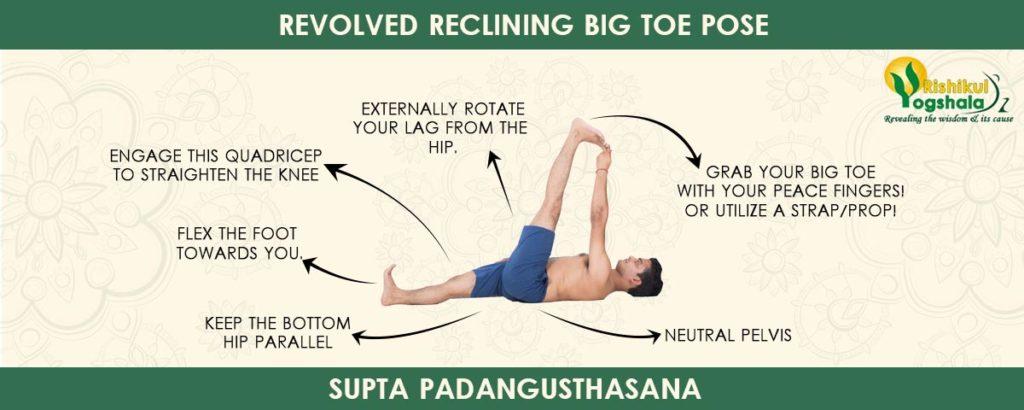 Revolved Reclining Big Toe Pose (Supta Padangusthasana)