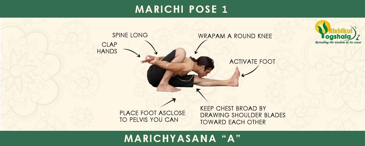 How To Do Marichi Pose I Marichyasana A