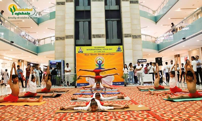 5th International Yoga Celebaretion Rishikul Yogshala